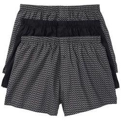 Bokserki z tkaniny (3 pary) bonprix dymny szary -czarny wzorzysty + czarny