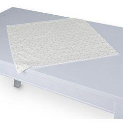 Dekoria Serweta 60x60 cm, srebrna geometria na białym tle, 60 × 60 cm, Christmas