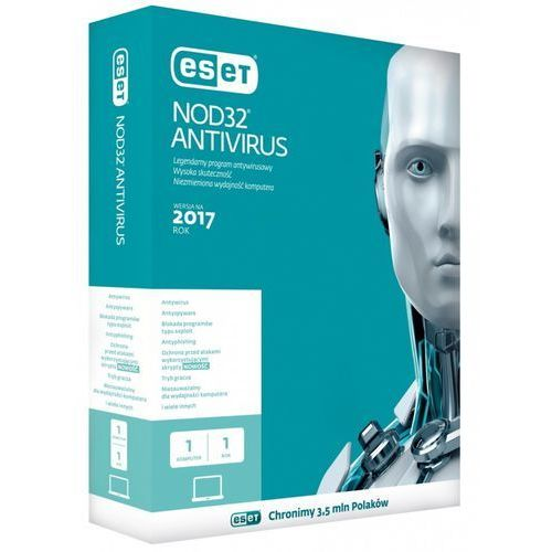 Oprogramowanie antywirusowe, ESET NOD32 Antivirus v.6 1U - 2Lata