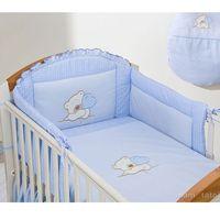Zabezpieczenia do łóżeczek, MAMO-TATO Ochraniacz do łóżeczka 70x140 Miś z serduszkiem w błękicie