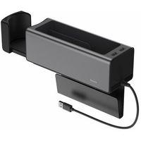 Pozostałe akcesoria do samochodu, Baseus samochodowy organizer uchwyt na kubek HUB 2x USB do ładowania czarny (CRCWH-A01) - Czarny