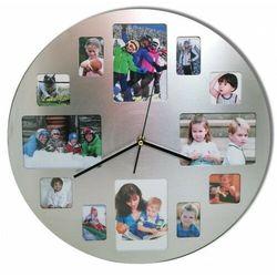 Zegar ścienny z miejscami na zdjęcia 40cm