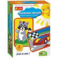 Kreatywne dla dzieci, Ranok-Creative, Piaskowe obrazki, Szop pracz i autko