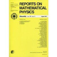 Książki popularnonaukowe, Reports on Mathematical Physics 76/1 2015 Pergamon (opr. miękka)