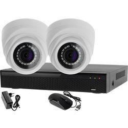 Monitoring 2 kamery zestaw: Rejestrator 4 kanałowy LV-XVR44N + 2x Kamera LV-AL1M2FDPWH