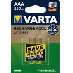 Varta akumulatory Endless 2 AAA 550 mAh 3500 Cycles R2U