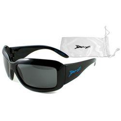 Okulary przeciwsłoneczne dzieci 4-10lat UV400 BANZ - Square TV Black
