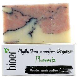Mydło z masłem Shea i węglem aktywnym - Plumeria - 130g - marki Bioer