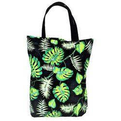 EKO torba bawełniana - zielone liście monstera