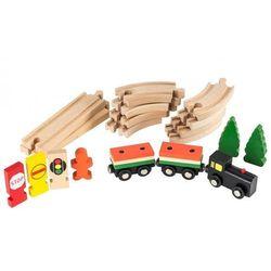 Kolejka drewniana 25 elementów
