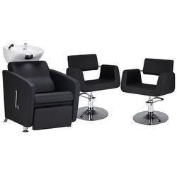 Zestaw Mebli Fryzjerskich - Myjnia Komfort Max + 2 Fotele Stein Dysk
