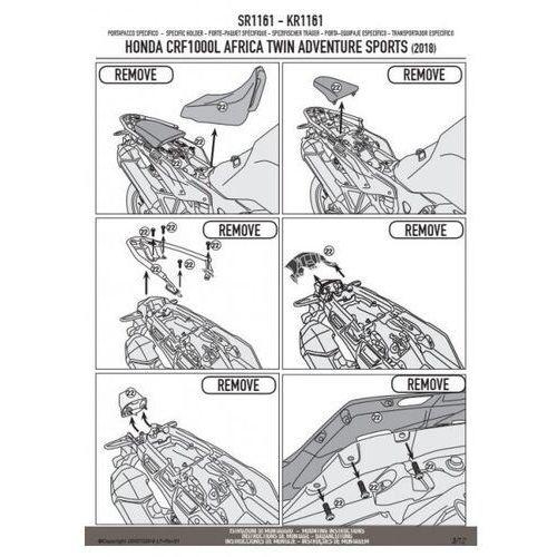 Stelaże motocyklowe, Kappa kr1161 stelaż kufra centralnego honda bez płyty