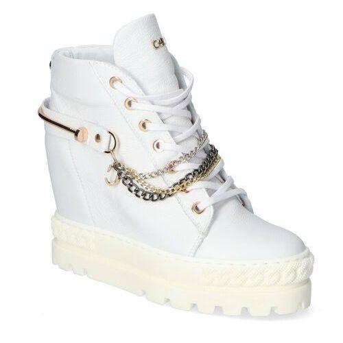 Damskie obuwie sportowe, Sneakersy Carinii B7218-I81 Białe lico