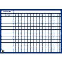 Tablice szkolne, Diagram Gantta z podziałem na dni miesiąca tablica suchościeralna Lean 113