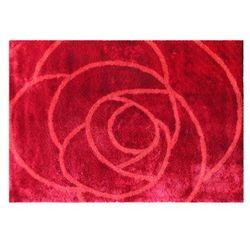 Dywan ROSERA - 100% poliestru - 160 x 230 cm - Kolor czerwony