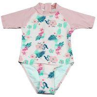 Stroje kąpielowe dla dzieci, Strój kąpielowy kombinezon dzieci 120cm filtr UV50+ - Pink Floral \ 120cm