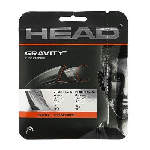 Tenis ziemny, Naciąg tenisowy Head GRAVITY HYBRID 1.25/1.20mm 6.5/5.5m SPIN/CONTROL