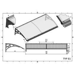 Zadaszenie drzwiowe typ E1 170x95 cm