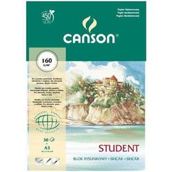 Blok rysunkowy A3/30 kartek Student - Canson