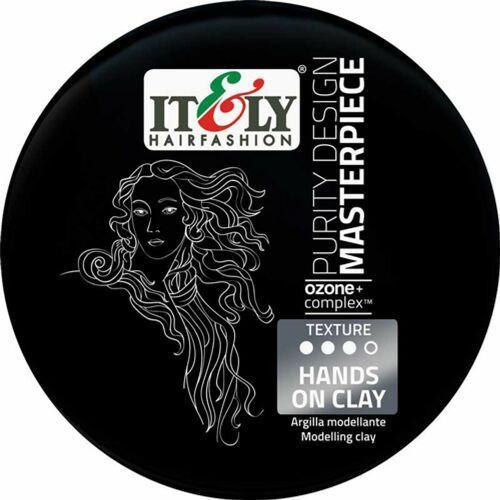 Stylizowanie włosów, Itely Hairfashion PDM HANDS ON CLAY Pasta modelująca z oczyszczanej zielonej glinki