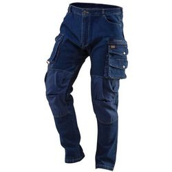 Spodnie robocze DENIM wzmocnienia na kolanach rozmiar XXXL 81-228-XXXL