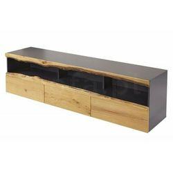 INVICTA szafka pod telewizor WILD OAK - 180 szary dąb, drewno naturalne, płyta MDF