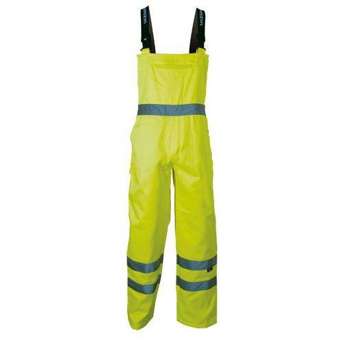 Spodnie i kombinezony ochronne, Spodnie na szelkach ostrzegawcze żółte, rozmiar XXXL