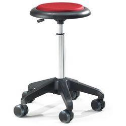 Mobilny stołek roboczy DIEGO, 540-730 mm, czerwona tkanina
