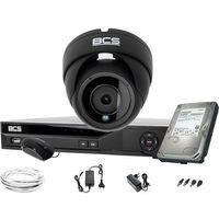 Zestawy monitoringowe, Gotowy zestaw do monitoringu sklepu biura magazynu BCS-DMQE2500IR3-G BCS-XVR04014KE-II 1TB