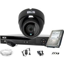 Gotowy zestaw do monitoringu sklepu biura magazynu BCS-DMQE2500IR3-G BCS-XVR04014KE-II 1TB