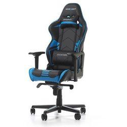 Fotel DXRacer Racing Pro Gaming czarno-biało-niebieski OH/RH110/NWB Darmowy odbiór w 21 miastach!