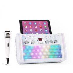 Auna DiscoFever 2.0 zestaw karaoke BT wielobarwne diody LED odtwarzacz CD/CD+G
