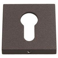 Szyldy do klamek, Szyld drzwiowy Gamet kwadratowy na wkładkę grafitowy strukturalny