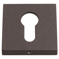 Szyld drzwiowy Gamet kwadratowy na wkładkę grafitowy strukturalny