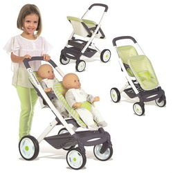 Smoby Bebe Confort Wózek spacerówka dla lalek bliźniąt 253294 Maxi Cosi Quinny