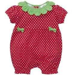 Pajacyk niemowlęcy z krótkim rękawem, bawełna organiczna bonprix czerwony truskawkowy