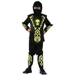 Kostium Ninja żółty z czaszką - M - 120/130 cm