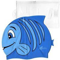 Czepki, Silikonowy czepek dla dzieci SwimFin - niebieski