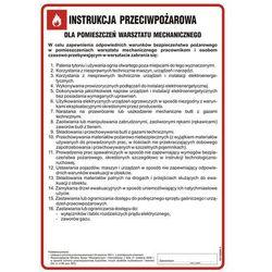 Instrukcja przeciwpożarowa dla pomieszczeń warsztatu mechanicznego
