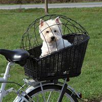 Bagażniki rowerowe, Trixie Kosz wiklinowy na bagażnik rowerowy czarny