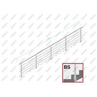 Przęsła i elementy ogrodzenia, Balustrada nierdzewna AISI304, D42,4/4xd12/H900/L6