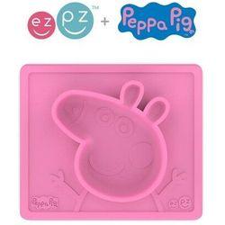 EZPZ - Silikonowa miseczka z podkładką 2w1 Peppa Pig™ - różowa