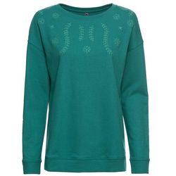 Bluza z kapturem bonprix jasnoszary melanż z nadrukiem
