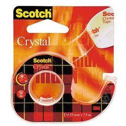 Taśma samoprzylepna Scotch Crystal Clear 6-1975 przezroczysta na podajniku 19mm x 7,5m