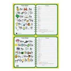 Podkładka na biurko A2 alfabet zielony dwustronna laminowana. Darmowy odbiór w niemal 100 księgarniach!