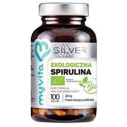 Silver Pure 100% Spirulina BIO 600mg 100 kaps.