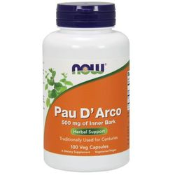 NOW FOODS Pau D'Arco 500mg - 100 kapsułek
