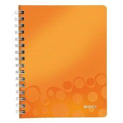 Kołonotatnik Leitz Wow PP A5 80 kratka pomarańczowy 46410044