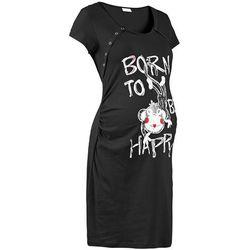 Koszula nocna ciążowa i do karmienia bonprix czarny