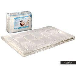SELSEY Kołdra Aksamitna z poduszkami 40x40 cm kremowa